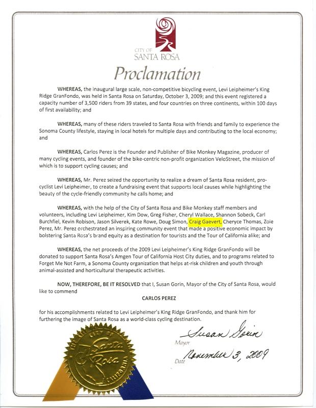 COSR Proclamation