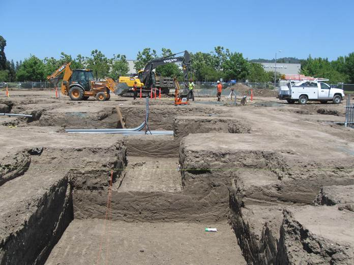 american agcredit, tlcd architecture, construction update, excavation for footing