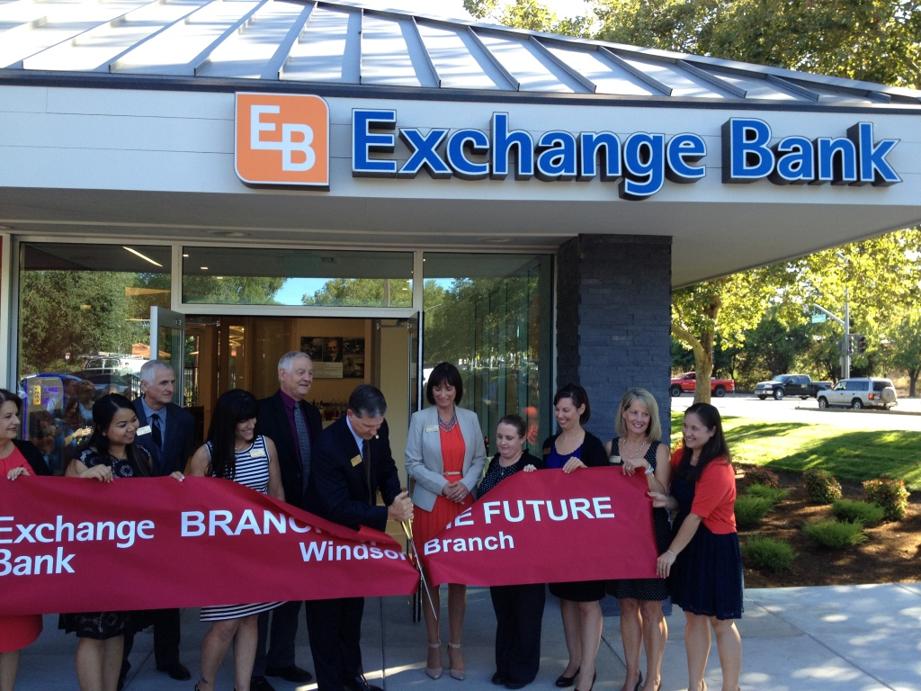 tlcd architecture, exchange bank windsor, bank branch of the future, ribbon cutting ceremony
