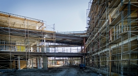 american agcredit headquarters building, tlcd architecture, construction update, airport business park
