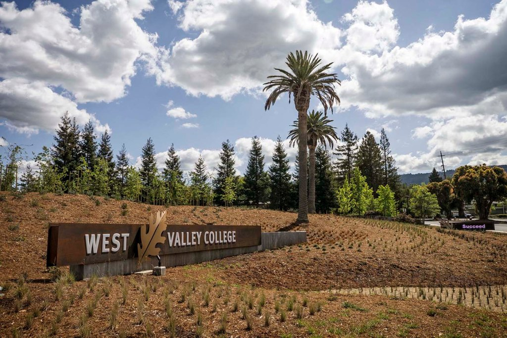 West Valley College, Entry Project, TLCD Architecture, Oak Nursery, Historic Palm, Signage, Drought Tolerant