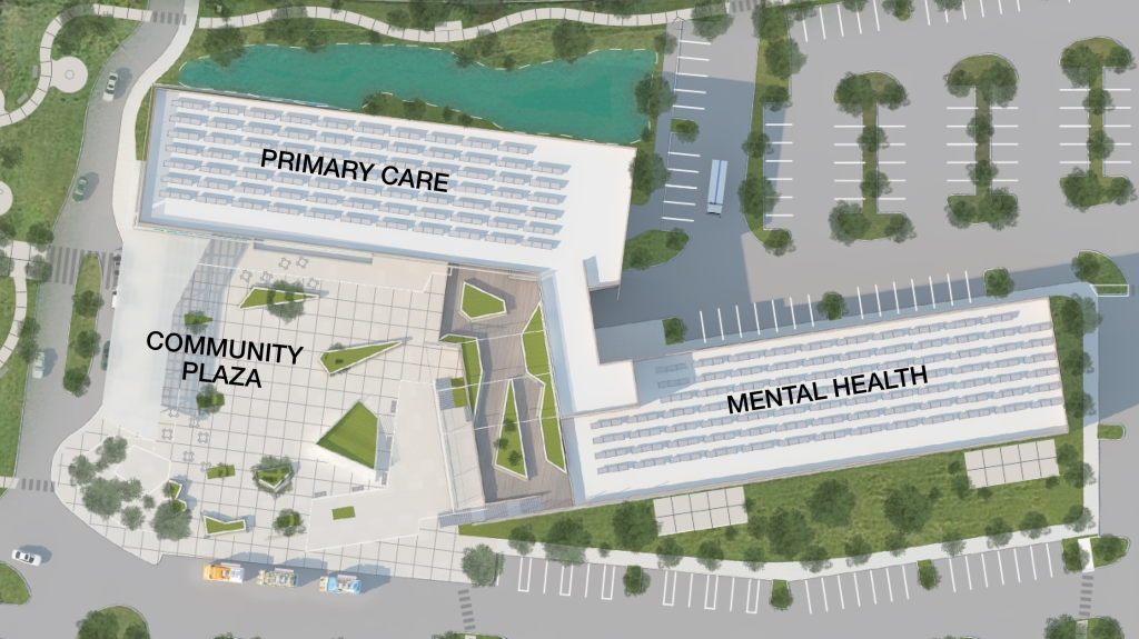 tlcd architecture, healthcare design, integrating primary cary and mental health, jason brabo, design competition