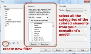 TLCD Architecture, View Filter, Revit