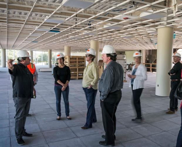 TLCD Architecture, American AgCredit Headquarters Building, Santa Rosa, CA, Staff Tour, Construction Update