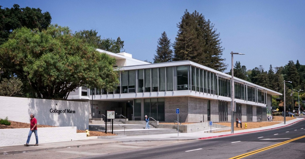 College of Marin, new Academic Center, Kentfield Campus, TLCD Architecture, Mark Cavagneros Associates