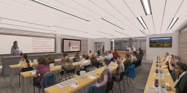 Wine Business Institute, Sonoma State University, TLCD Architecture, Hospitality Classroom