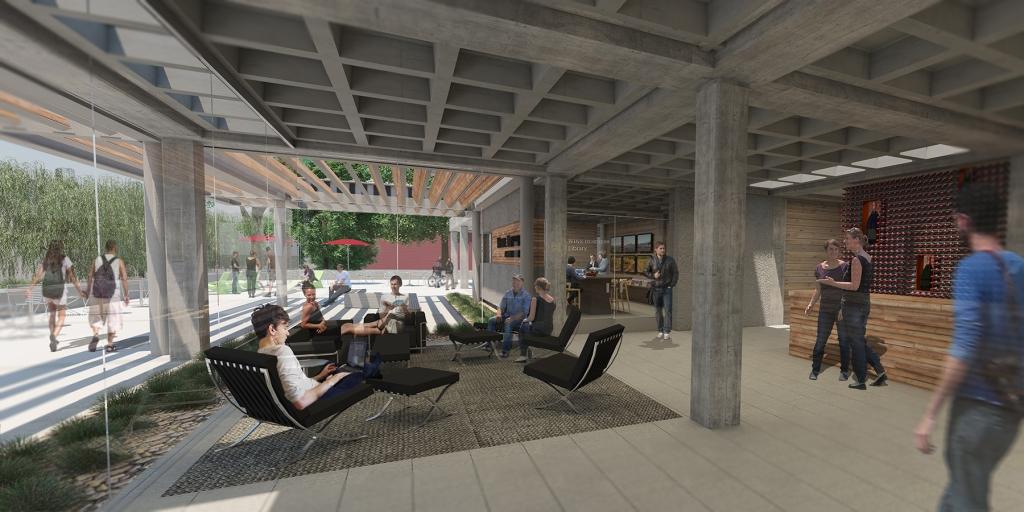 Wine Business Institute, Sonoma State University, TLCD Architecture, Interior Rendering