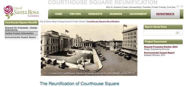 Santa Rosa Courthouse Square Survey