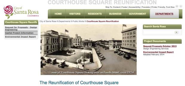 Santa Rosa Courthouse Square Survey
