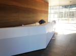 isomi, american accredit, reception desk, commercial interiors, tlcd architecture