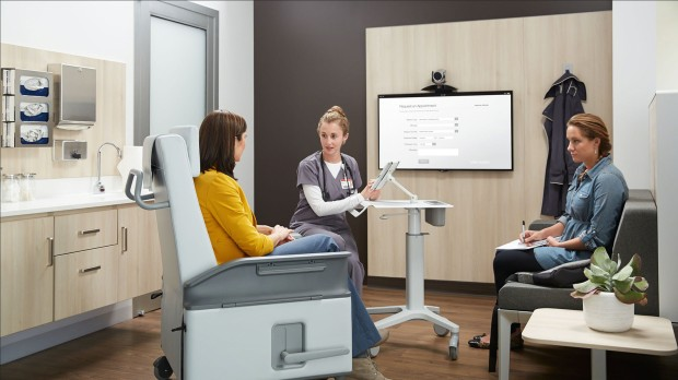 Steelcase Health Spaces, Waiting room and transitional furniture, Exam rooms