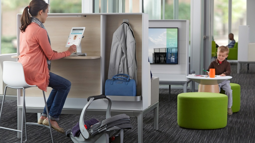 Steelcase Health, Waiting room furniture, new trends in healthcare interiors