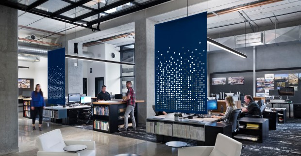 TLCD Architecture, workplace design, Filzfelt acoustic screen, Neocon 2016