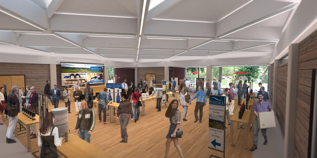 wine spectator learning center, sonoma state wine business institute, tlcd architecture, 3d building scan, truebeck construction